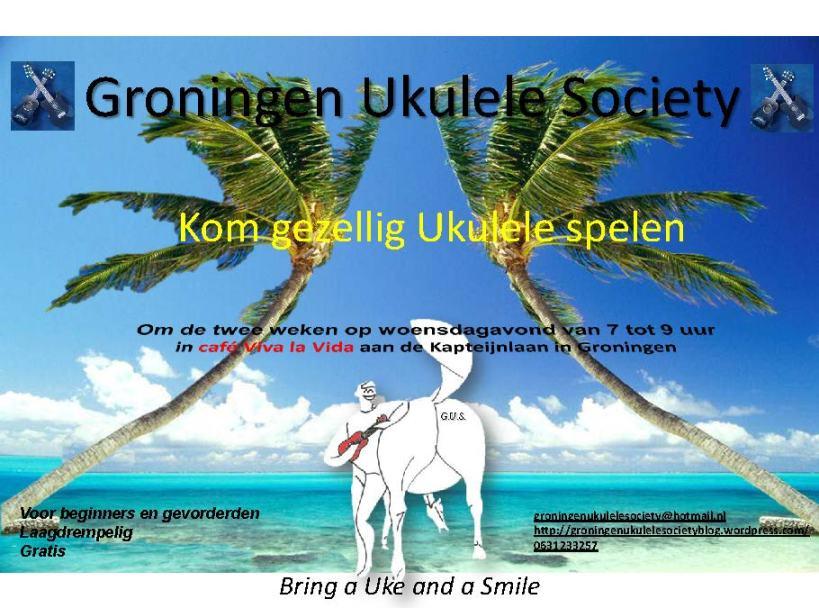 Groningen Ukulele Society poster